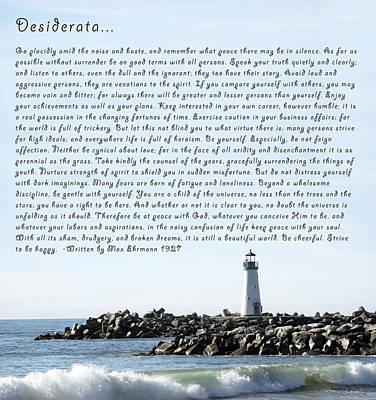 Desiderata Santa Cruz Lighthouse Poster