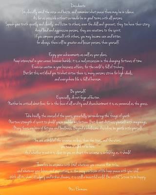 Desiderata Sky 2 Poster