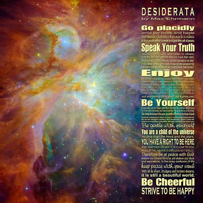 Desiderata - Space Poster
