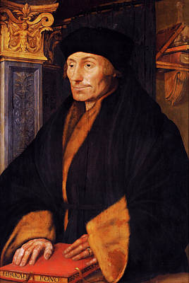 Desiderius Erasmus Poster by Bodleian Museum/oxford University Images