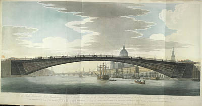 Design For A Cast Iron Bridge Poster