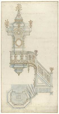 Design For A Pulpit Poster by Michael Furtner the Elder