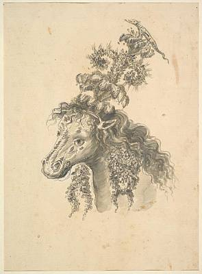 Design For The Headdress Of A Horse Poster