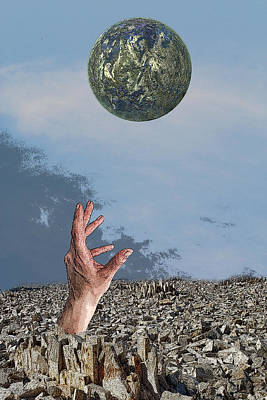 Poster featuring the digital art Desiring Another World by Angel Jesus De la Fuente