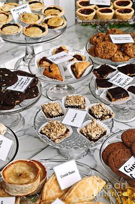 Desserts In Bakery Window Poster by Elena Elisseeva
