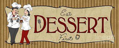 Desserts Kitchen Sign-dessert Poster