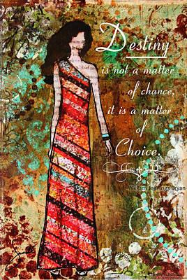 Destiny Inspirational Christian Art Poster by Janelle Nichol