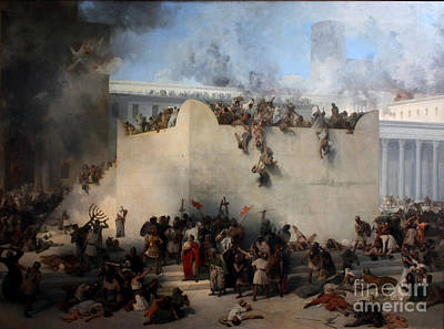 Destruction Of The Temple Of Jerusalem Poster by Celestial Images