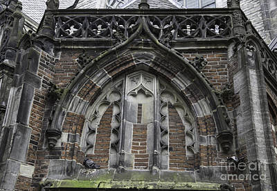 Detail Above Door Oude Kerk Amsterdam Poster by Teresa Mucha