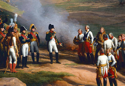 Detail From The Surrender Of Ulm, 20th October, 1805 - Napoleon And The Austrian Generals, 1815 Oil Poster by Charles Thevenin