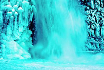 Detail, Lower Horsetail Falls, Winter Poster