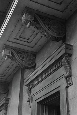 Detail Of Exterior Molding At A Plantation Home Poster by F.S. Lincoln