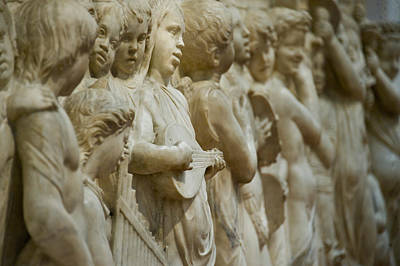 Detail Of Marble Relief, Florence Poster
