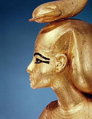 Detail Of The Goddess Selket From The Canopic Shrine, From The Tomb Of Tutankhamun, New Kingdom Poster
