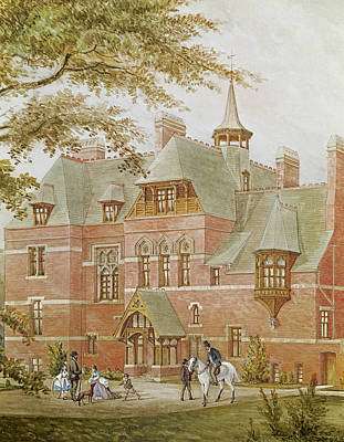 Detail Of Westhoe Hall, South Shields. Built By J.c. Stevenson To The Design Of His Brother J.j Poster