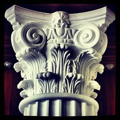 #details Of A Decorational #pillar Poster