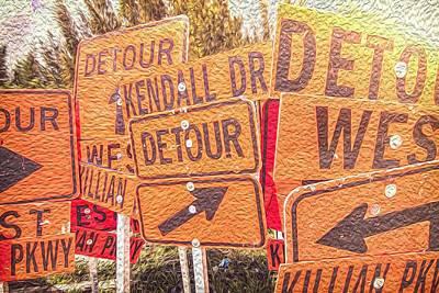 Detour On Oil Poster by Scott Mullin