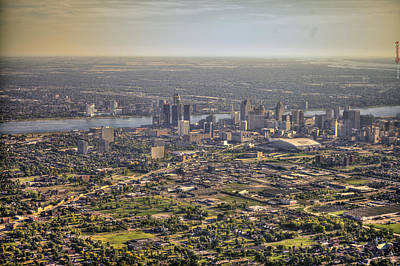 Detroit From Twenty Five Hundred Feet Poster