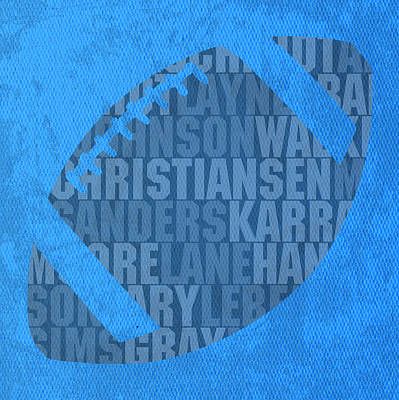 Detroit Lions Football Team Typography Famous Player Names On Canvas Poster by Design Turnpike