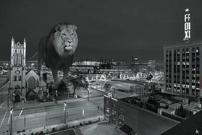 Detroit Lions Poster by Nicholas  Grunas