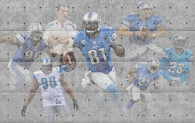 Detroit Lions Team Poster by Joe Hamilton