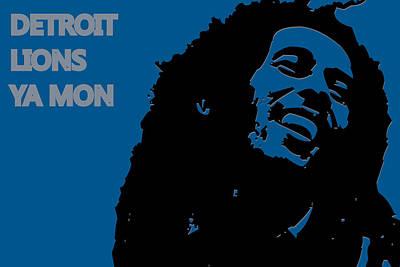 Detroit Lions Ya Mon Poster by Joe Hamilton