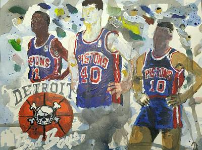 Detroit Pistons Bad Boys  Poster by Tyrone Scott