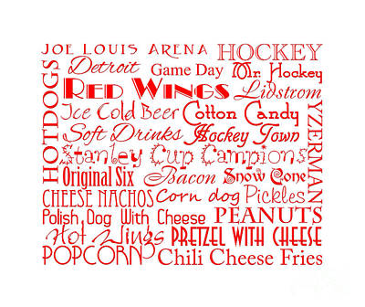 Detroit Red Wings Game Day Food 4 Poster