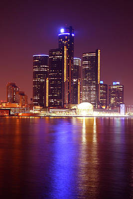 Detroit Skyline 5 Poster by Gordon Dean II