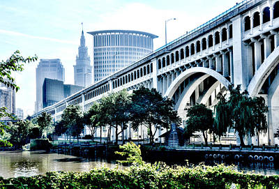 Poster featuring the photograph Detroit-superior Bridge - Cleveland Ohio - 1 by Mark Madere