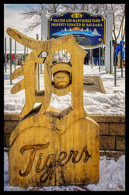 Detroit Tigers Baseball Poster