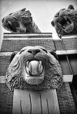 Detroit Tigers Comerica Park Tiger Statues Poster by Gordon Dean II