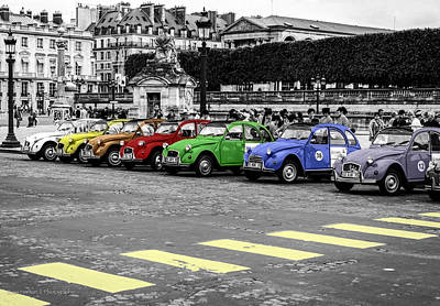 Deux Chevaux In Color Poster by Ross Henton