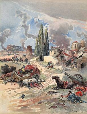 Devastation Of Provence, Illustration Poster by Albert Robida