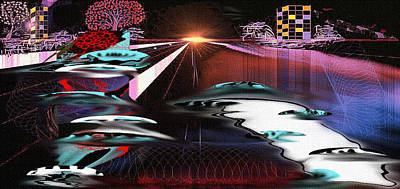 Poster featuring the painting Ufo Landing by Yul Olaivar
