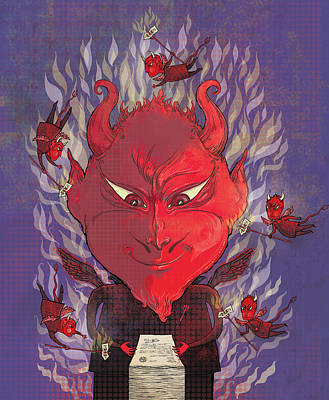 Devil In The Details Poster by Dennis Wunsch