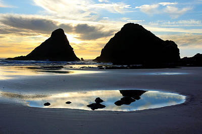 Devil's Elbow Reflection At Heceta Head Poster
