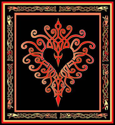 Poster featuring the digital art Devil's Heart by Vagabond Folk Art - Virginia Vivier