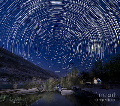 Devils River Star Trails Poster by Richard Mason