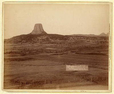 Devils Tower And Mo. Buttes. Ryans Ranch In Foreground Poster