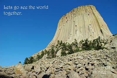 Devils Tower Card 2 Poster