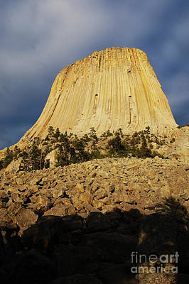 Poster featuring the photograph Devils Tower National Monument Wyoming Usa by Shawn O'Brien