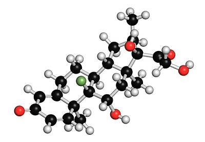 Dexamethasone Glucocorticoid Drug Poster by Molekuul