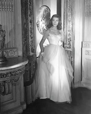 Deyanne O'neil Farrell Wearing A Dress Poster by Horst P. Horst