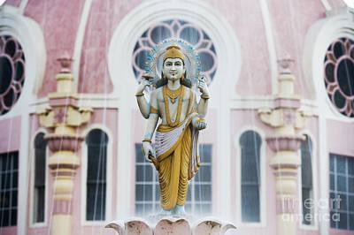 Dhanvantari Fountain Statue Puttaparthi India Poster by Tim Gainey