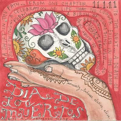 Dia De Los Muertos Poster by Jennifer Mazzucco