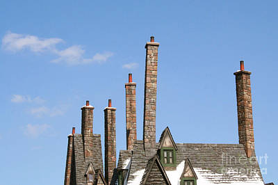 Diagon Alley Chimney Stacks Poster by Shelley Overton