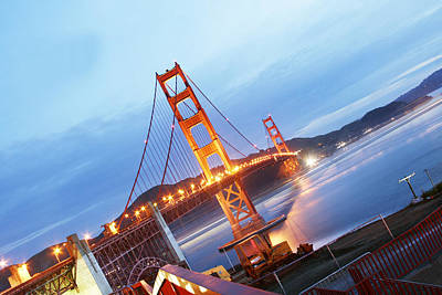 Diagonal Golden Gate Bridge Poster by Pobby Heglar