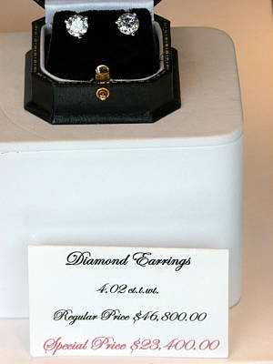 Diamond Earrings On Sale Poster