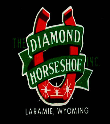 Poster featuring the digital art Diamond Horseshoe by Cathy Anderson